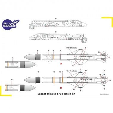 1/32 Exocet M39 missile