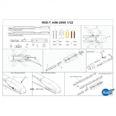 1/32 AIM-2000 IRIS-T missile (set of 2)